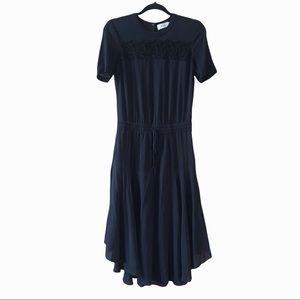 A.L.C 100% silk tiered lace midi dress. 4